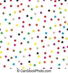 eps10, 背景, カラフルである, パターン, seamless, 星, 白