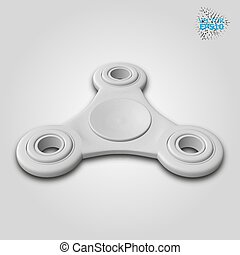 3d Vector illustration of a fidget spinner isolated on white background