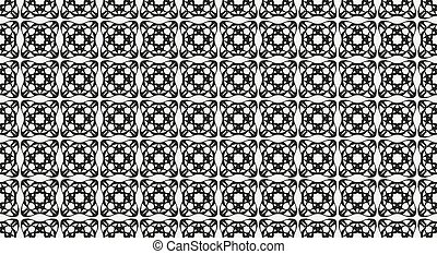 Abstract geometric black and white art pattern