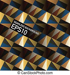 eps10, abstract, seamless, geometrisch, achtergrond., vector, driehoeken