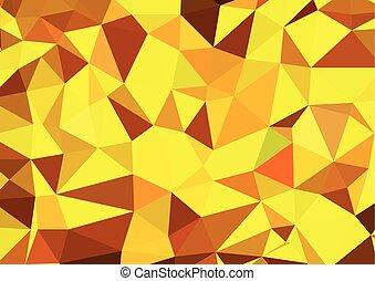 eps10, abstrakcyjny, -, żółty, wektor, tło, geometryczny