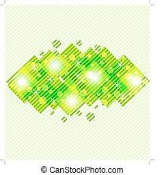 eps10, abstrakt, illustration, bakgrund., vektor, grön