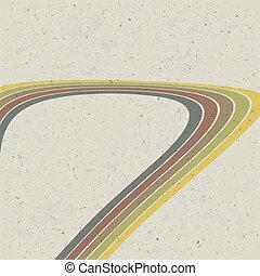 eps10, abstrakt, linien, hintergrund., vektor, retro