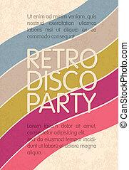 eps10, abstratos, discoteca, voador, desenho, retro, vetorial, partido., modelo