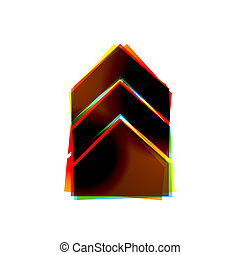 eps10, abstratos, experiência., vetorial, branca, ícone