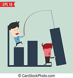 eps10, affari, mostra, -, illustrazione, vettore, asse, notizie, uomo
