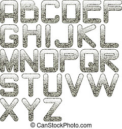 eps10, alfabeto, granito