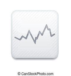 eps10, app, vektor, hvid, icon., aktie