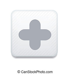 eps10, app, vettore, più, bianco, icon.