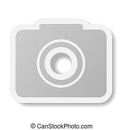 eps10, appareil photo, arrière-plan., vecteur, blanc, icône