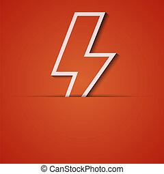 eps10, arrière-plan., vecteur, applique., orange, icône