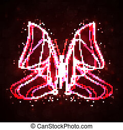 eps10, astratto, illustrazione, onda, vettore, baluginante, farfalla, futuristico