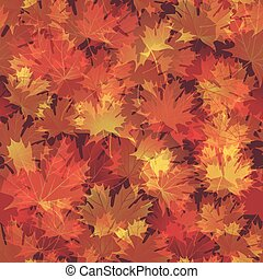 EPS10 Autumn leaves seamless background. Vector illustration