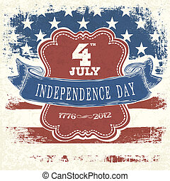 eps10, cartel, vector, día de independencia, celebration.