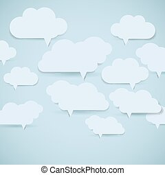 Eps10 cloud background. Abstract speech bubbles. Vector Illustration