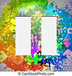 eps10, coloré, résumé, arrière-plan., vecteur, icon.