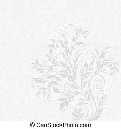 Elegant decorative floral illustration on the grey background