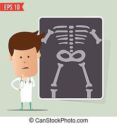eps10, doutor, mostrar, -, ilustração, vetorial, relatório