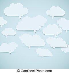 eps10, experiência., abstratos, ilustração, bubbles., vetorial, fala, nuvem