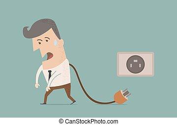 eps10, f, unplug, vetorial, homem negócios