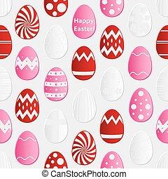 eps10, farbe, muster, eier, seamless, sammlung, papier, verschieden, design, ostern