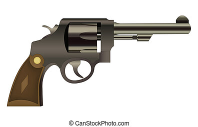 Vector handgun isolated - EPS10 file. Vector handgun...