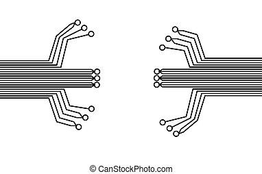 eps10, fond, résumé, élevé, arrière-plan., vecteur, technologie, circuit, board., puce