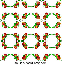 eps10, formato, apricots., seamless, pêssegos, vetorial, ...
