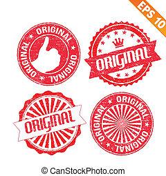 eps10, francobollo, adesivo, -, collezione, vettore, illustrazione, originale
