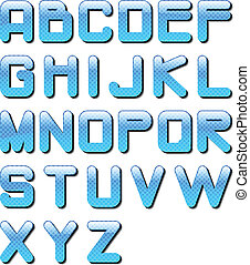 eps10 glossy alphabet blue