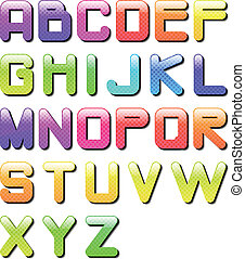 eps10 glossy alphabet