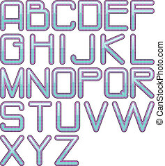eps10 glossy alphabet tech