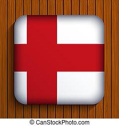 eps10, houten, achtergrond., vlag, vector, pictogram