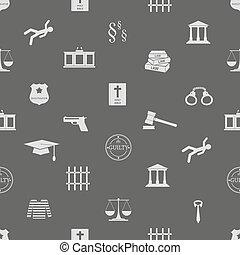 eps10, ikony, sprawiedliwość, próbka, seamless, prawo