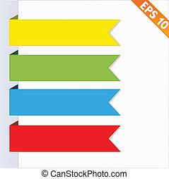 eps10, -, illustration, étiquette, papier, vecteur, étiquette, ruban