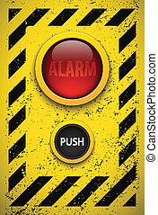 eps10, illustration., alarma, realista, vector, bulb.
