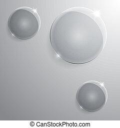 eps10, illustration., vetro, vettore, rotondo, frame.