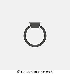 eps10, ilustração, color., vetorial, pretas, anel, ícone