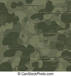 eps10, ilustración, camuflaje, fondo., vector, militar