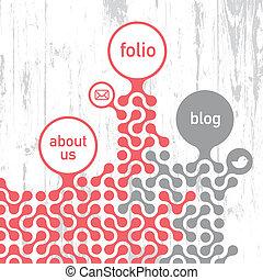 eps10, ilustración, sitio, vector, retro, diseñar, template.