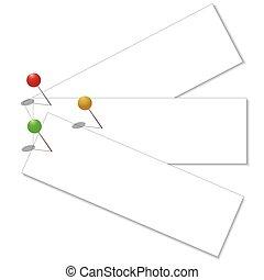 eps10, ilustracja, zacisk, nuta, wektor, papier