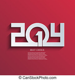eps10, jaar, achtergrond., vector, nieuw, 2014