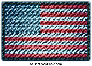 eps10, jean, drapeau américain, vecteur, texture.
