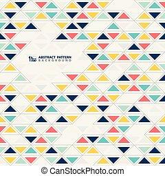 eps10, kleurrijke, model, abstract, illustratie, achtergrond., vector, ontwerp, driehoeken