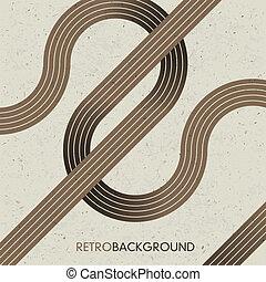 eps10., lines., hintergrund, vektor, retro, kreuzen