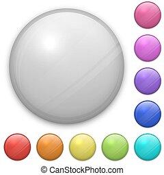 eps10, mal, layered, vrijstaand, achtergrond., vector, gemakkelijk, leeg, witte , badge, adjustable., bestand