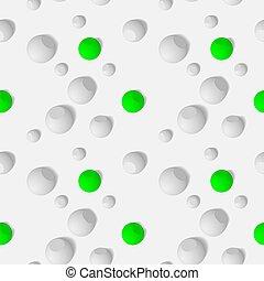 eps10., modello, seamless, sfere, tridimensionale, bianco, sferico, mosaico, astratto, objects.