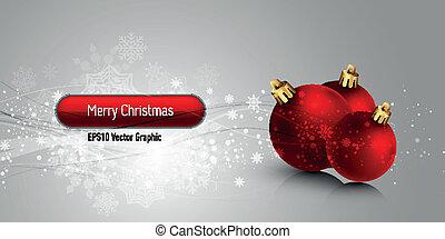 eps10, natal, vetorial, fundo, globos, bandeira,  , vermelho