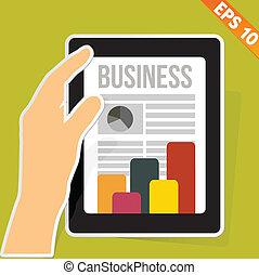 eps10, negócio, tabuleta, -, ilustração, vetorial, notícia