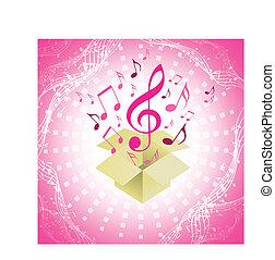 eps10, notas, abstratos, música, fundo, musical